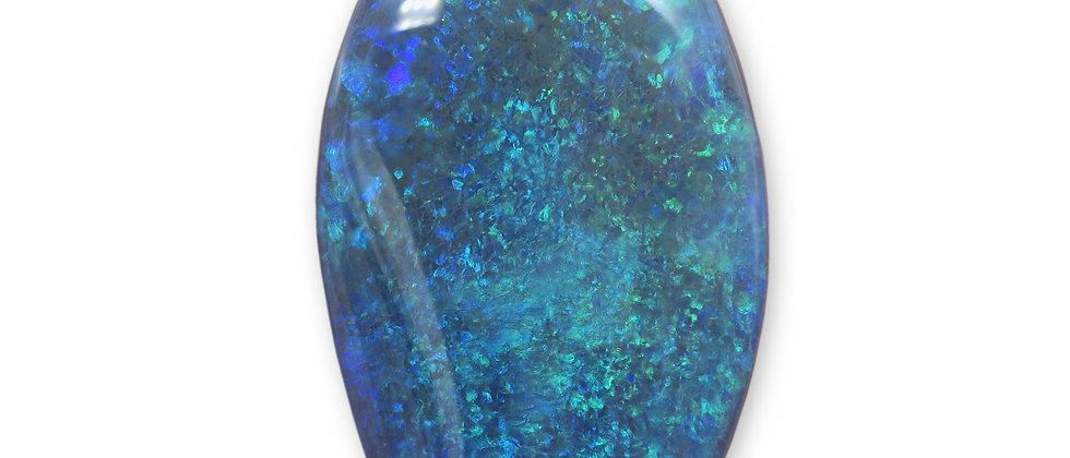 63.40 ct Lozenge Black Opal | 46.4 x 25.2 mm