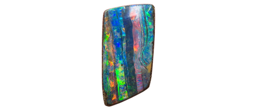 7.49 ct Striped Trapezoid Boulder Opal