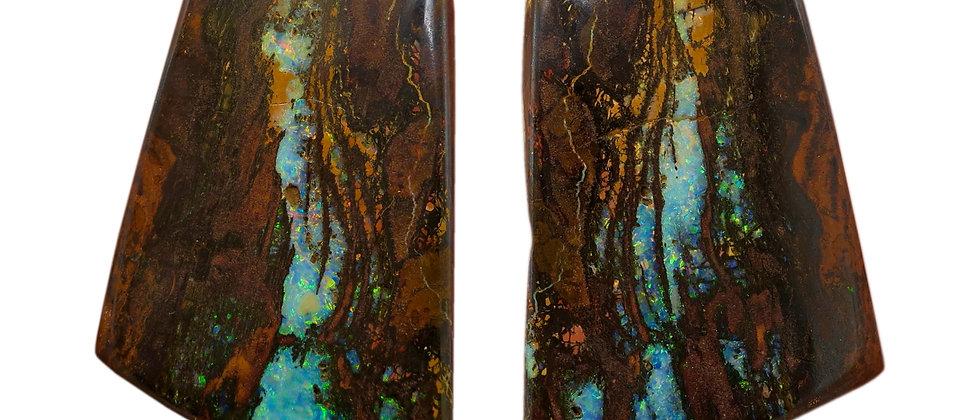 143.96 ctw Boulder Opal Pair
