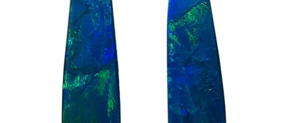 10.29 cttw Black Opal Pair