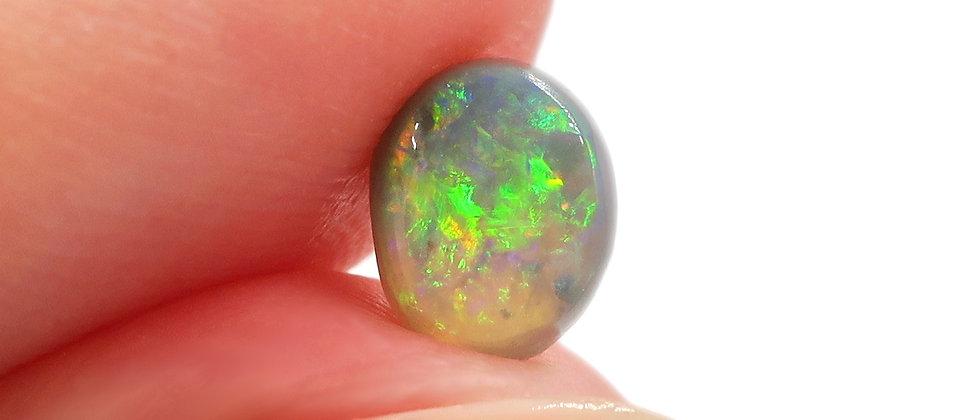 0.63 ct Black Crystal Opal | 6.2 x 5mm