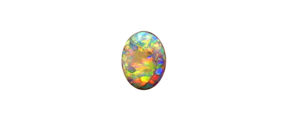 0.95 ct Gem Oval Dark Crystal Opal