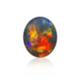 Gem Black Opal with Reflection