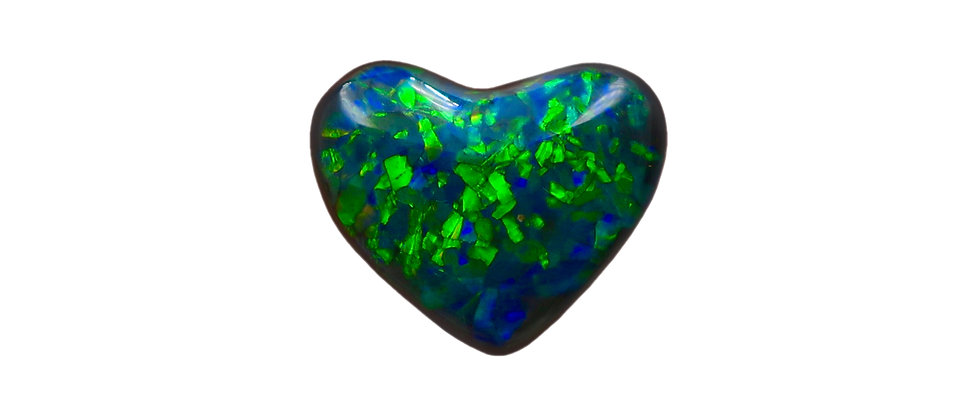 3.84 ct Puffy Heart Shaped Black Opal