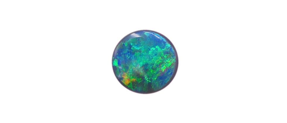 1.60 ct Bright Round Black Opal