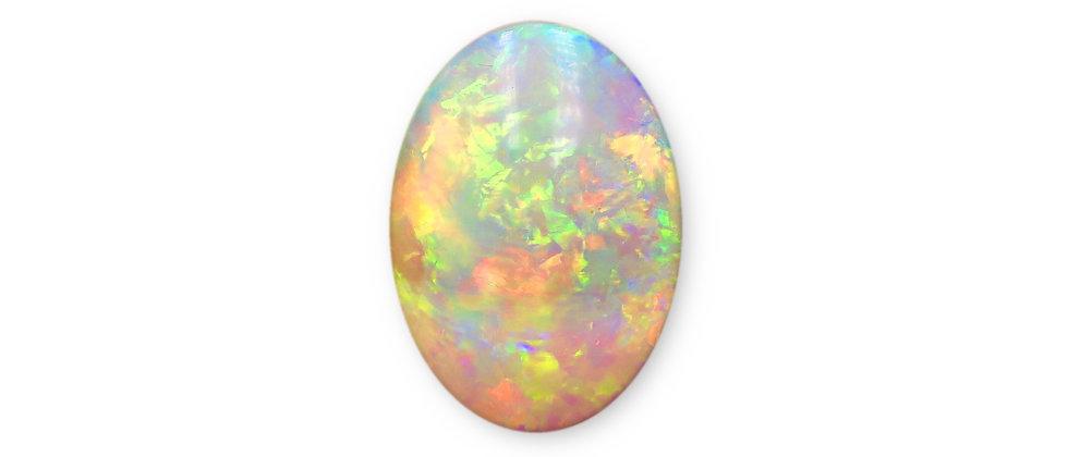 5.39 ct Crystal Opal | 16.1 x 11.9 mm