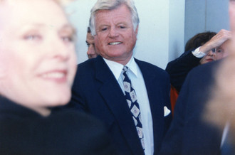 Carole with Ted Kennedy Boston 1995