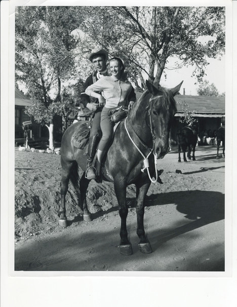 With George Hamilton on the set of Thunder of Drums - MGM 1961
