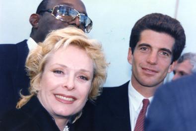 Carole with JFK Jr. in Boston 1995