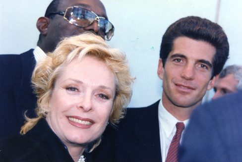 Carole with JFK Jr. in Boston 1995