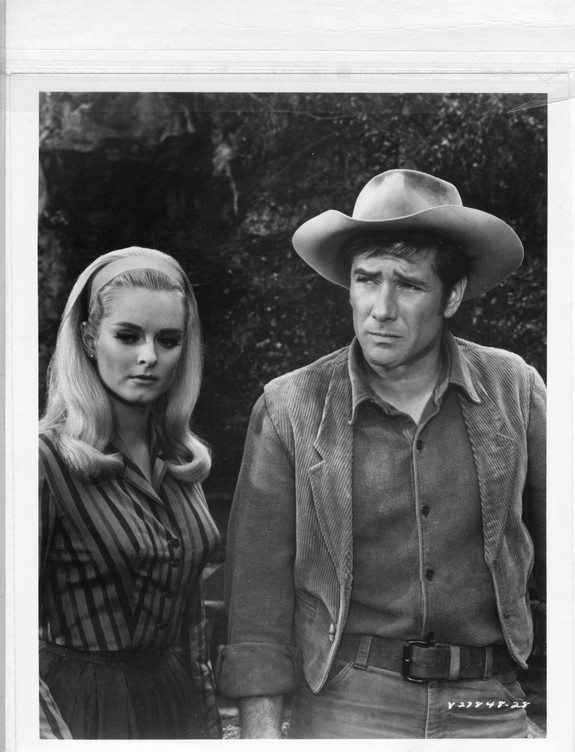 On the set of Laramie with Robert Fuller 1968
