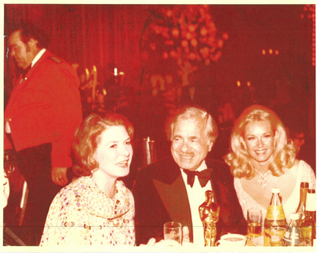 Academy Awards with Ingrid Berman & Producer Nat Cohen for Murder on The Orient Express
