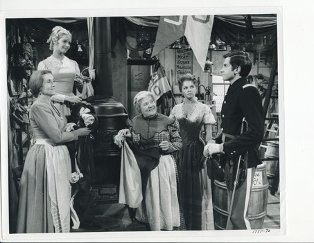 On set of Thunder & Drums with George Hamilton 1961