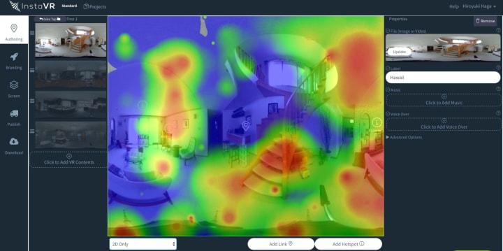 VR heatmap