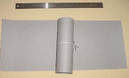 "10"" x 24"" Fish Paper Sheet: Light Grey"