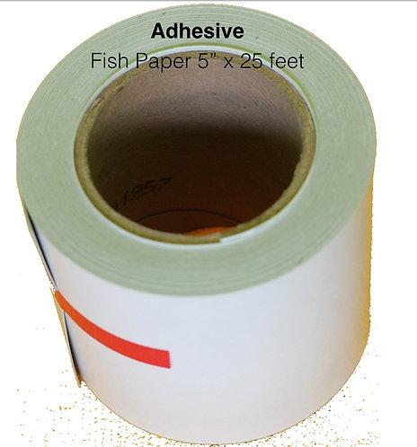 "CGA100525FT AdhesiveBacked Fish Paper Rolls 5""x25'"