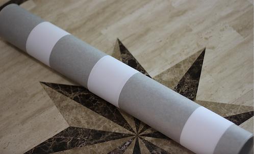 """26"""" x 25'x 0.005"""" Fish Paper Roll: L Grey"""