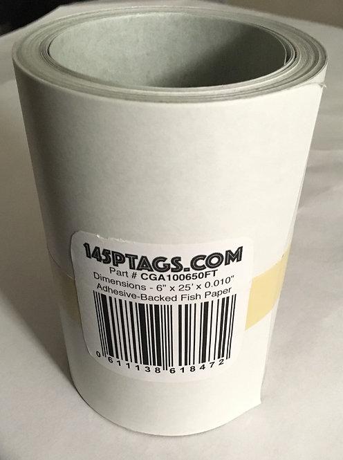 "CGA100625FT AdhesiveBacked Fish Paper Rolls 6""x25'"
