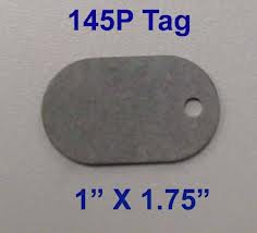 145PTAGS-TG Bag of 100 145P Fiber Tags