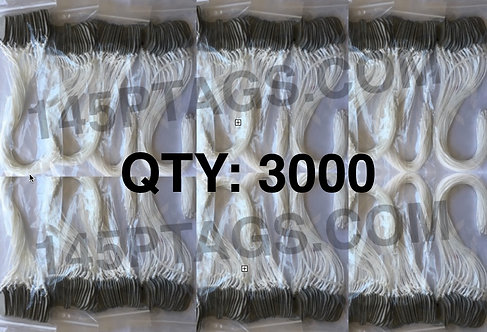 145PTAGS-TG/3000WC 3000ea145P Tags w/Waxed Cord