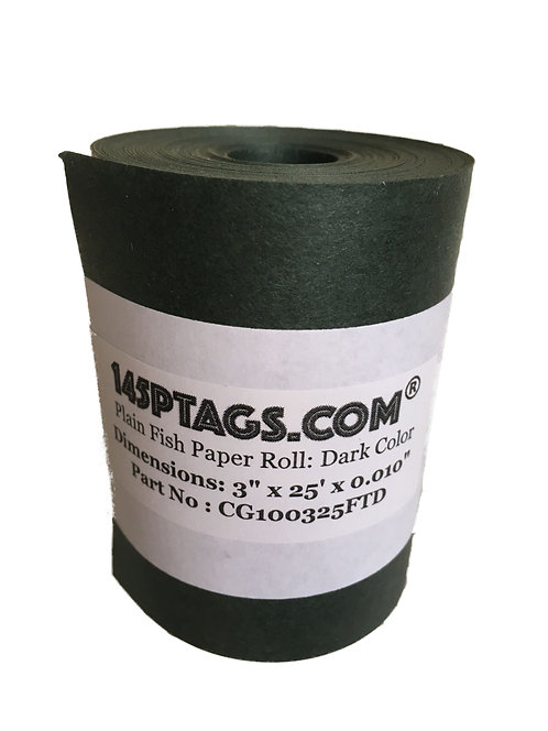 CG100325FTD Fish Paper Roll 3in. x 25ft.(Dark)
