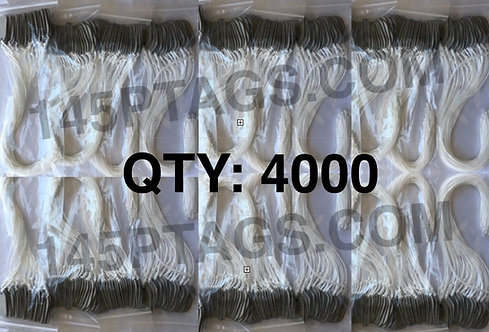 145PTAGS-TG/4000WC 4000ea145P Tags w/Waxed Cord