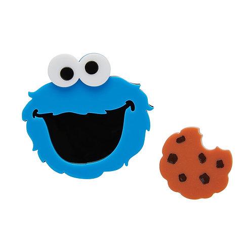 Cookie Monster Brooch Set by Erstwilder | Sesame Street | Blue