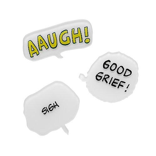 Good Grief! Brooch Erstwilder | Peanuts Comic Speech Bubble Brooch Set