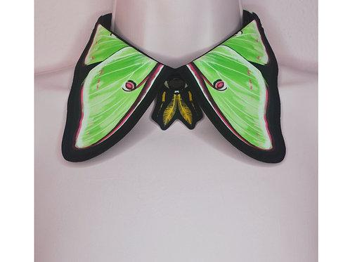 LUNA MOTH COLLAR by InterroBangBang  | Green Butterfly Moth