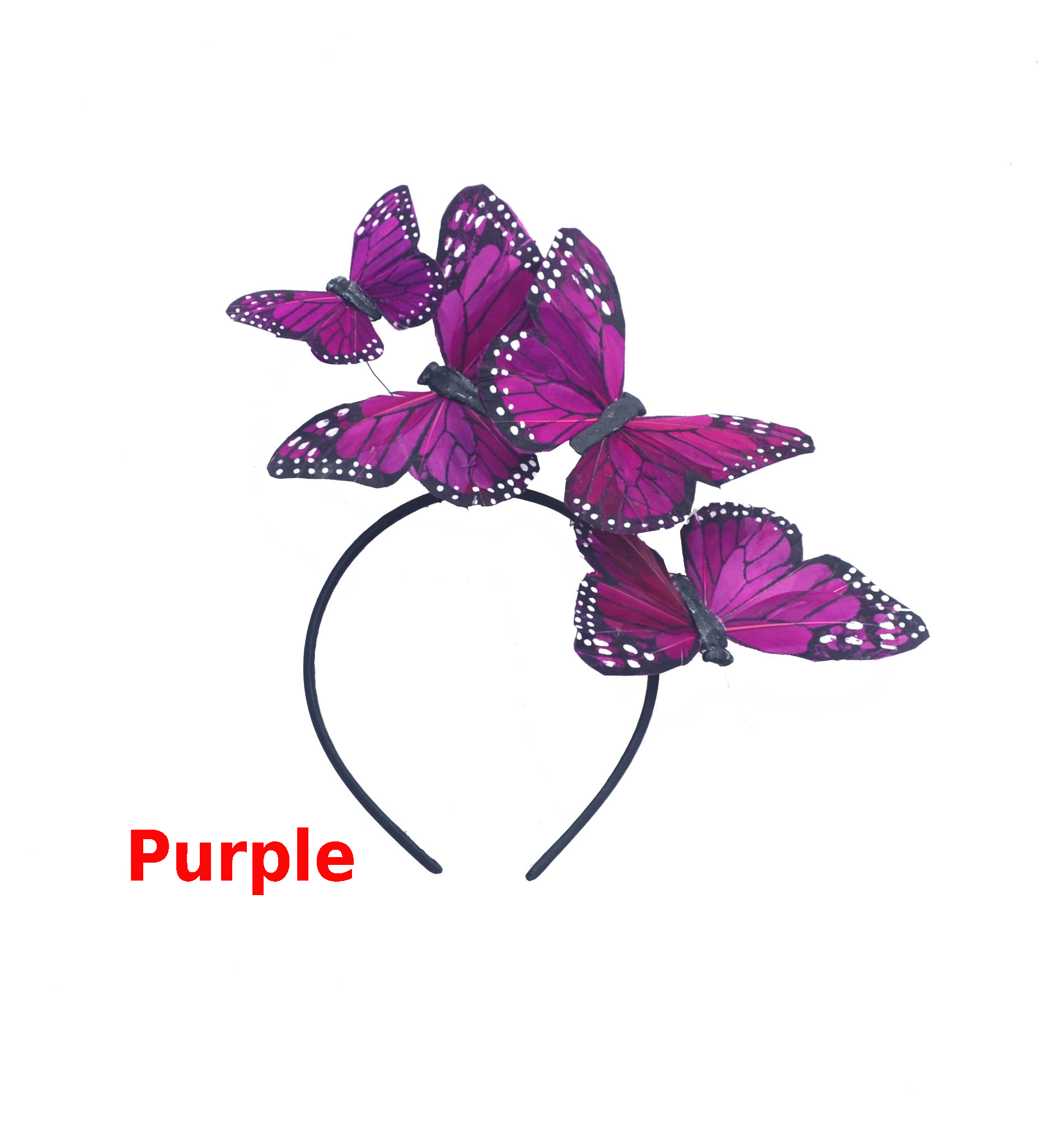 Purple Monarch Feather Butterfly Mariposa Headband