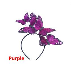 Purple Monarch Feather Butterfly Mariposa Headband