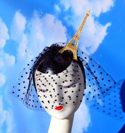 Eiffel Gold Veiled Headband