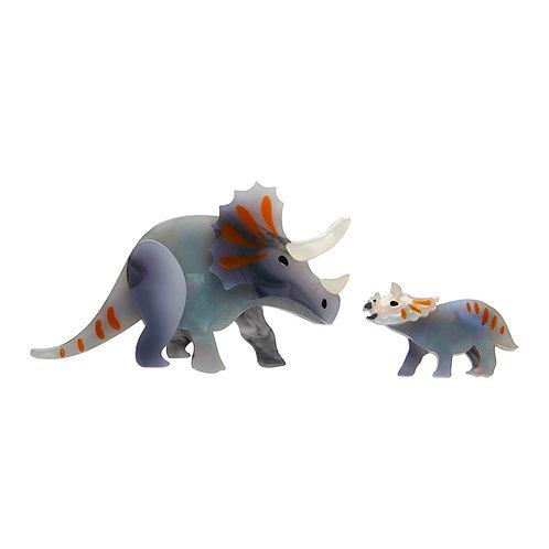 Herbivore Heritage Brooch | Triceratops Mother & Baby