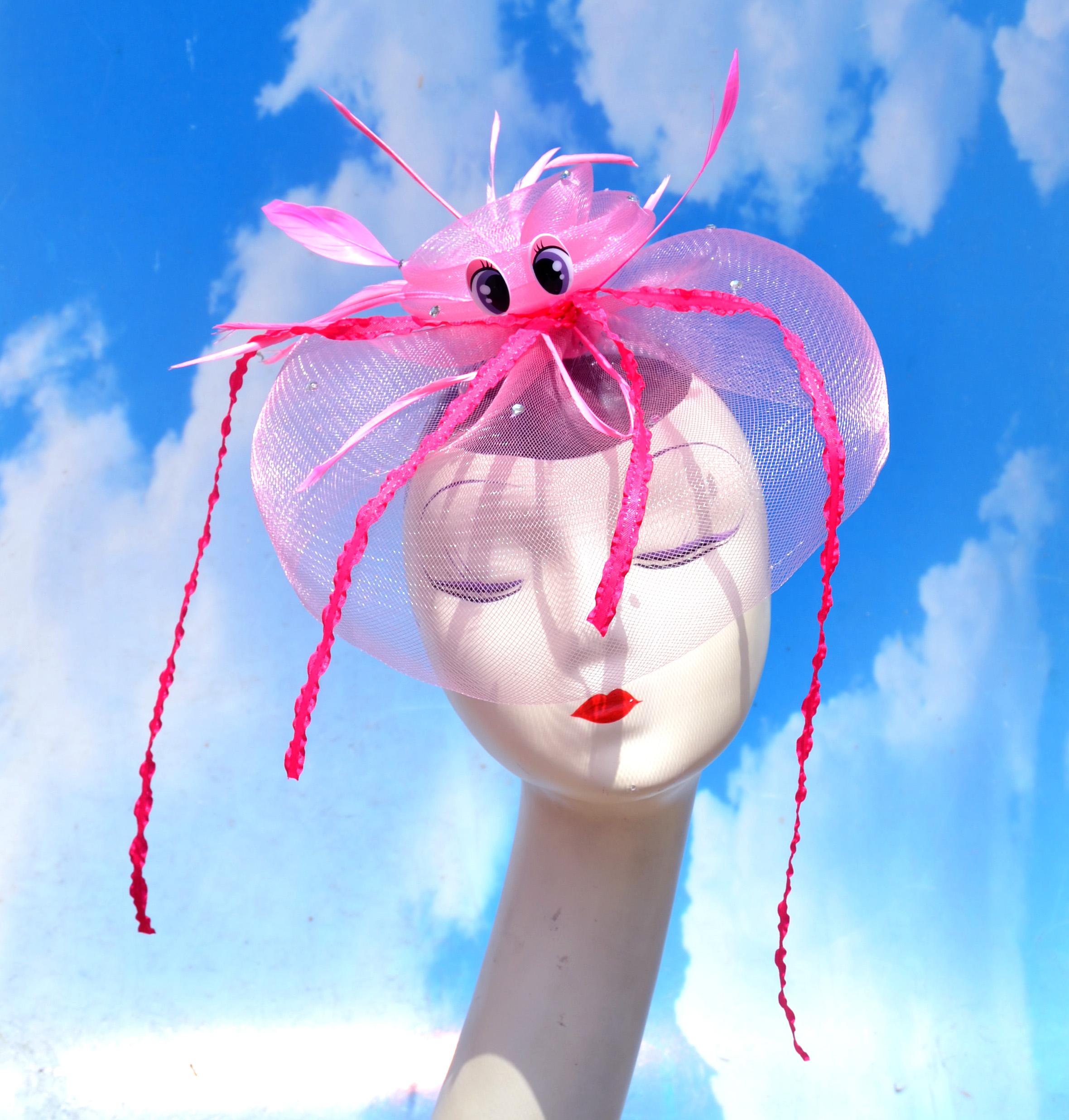 Pale Pink Jellyfish Veil