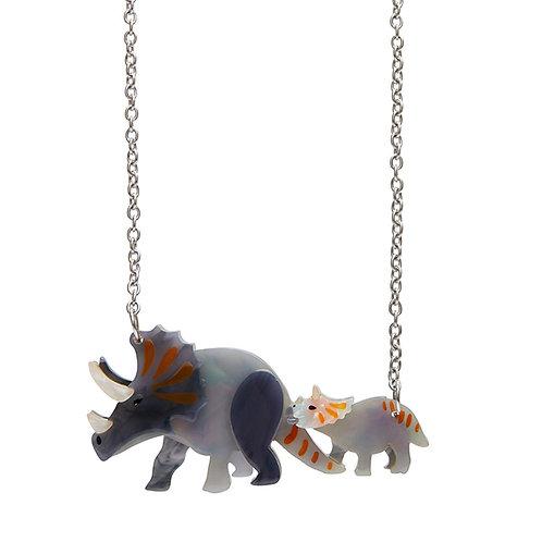 Herbivore Heritage Necklace | Triceratops Mother & Baby