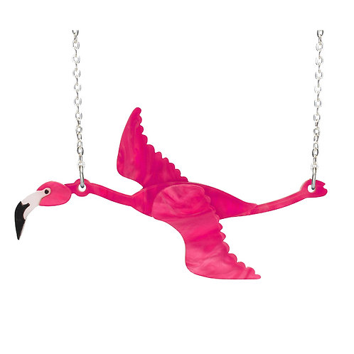 FLAMINGO FLYING NECKLACE by Little Moose | Pink Bird | Patagonia