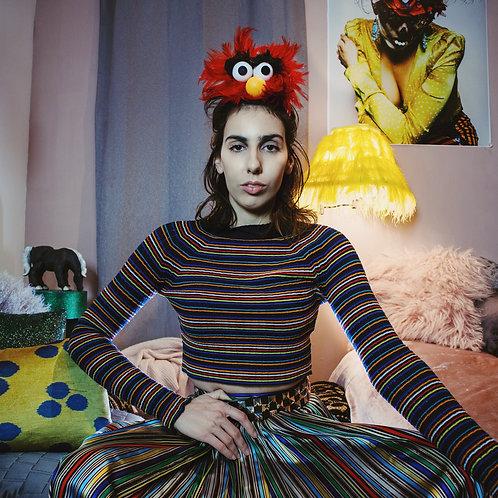 Red Animal or Elmo Sesame Street Costume Hat Fascinator