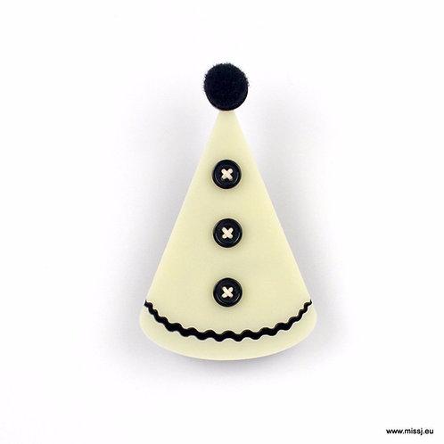 Pierrot Hat Brooch Brooch by MissJ Designs
