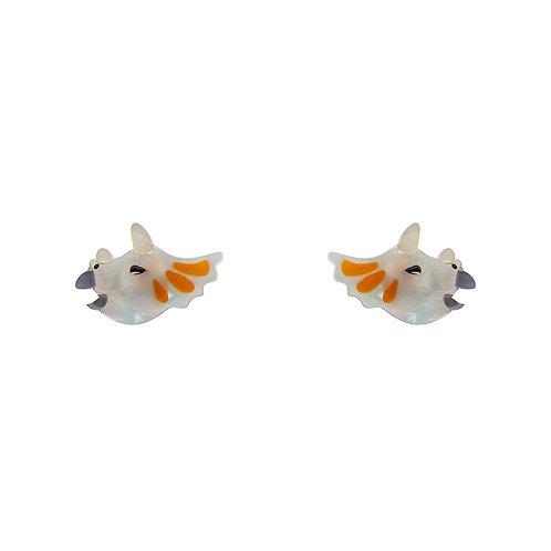 Tricera-Pop Earrings | Triceratops Dinosaur