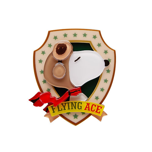 Flying Ace Brooch by Erstwilder | Peanuts Snoopy Dog