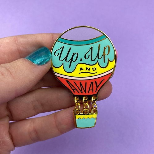 Up, Up and Away Enamel Pin by Erstwilder   Hot Air Balloon