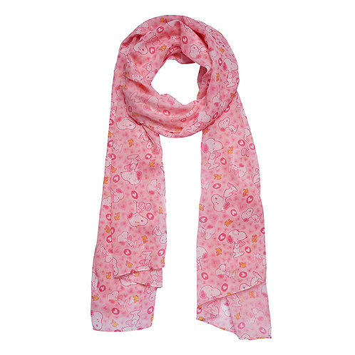 Snoopy Heart Neck Scarf  | Pink PEANUTS Scarf