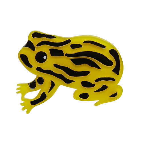 Tiny Toxic Tim Brooch by Erstwilder   Poison Dart Frog
