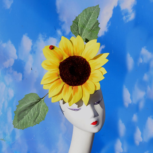 Large Yellow Sunflower Hat Costume Headpiece