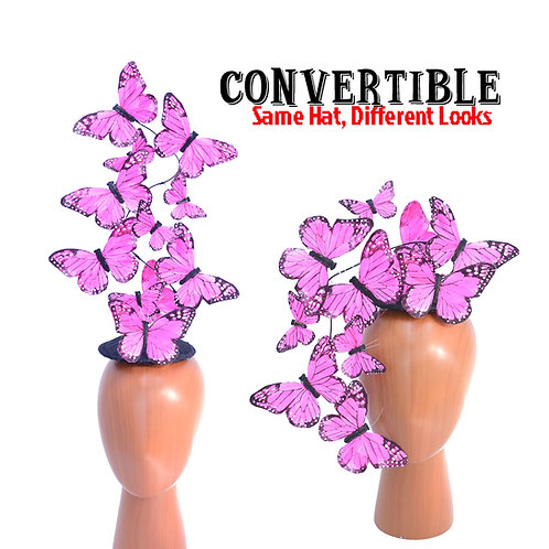 Pink Effie PLUS+ Butterfly Fascinator Headpiece
