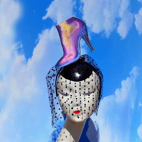 Surrealist High Heels Shoe X-Ray Veiled Headband
