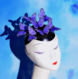Purple Monarch Butterfly Fascinator