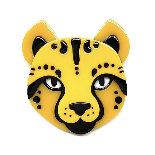 Cheetara's Chum   Cheetah Brooch by Erstwilder