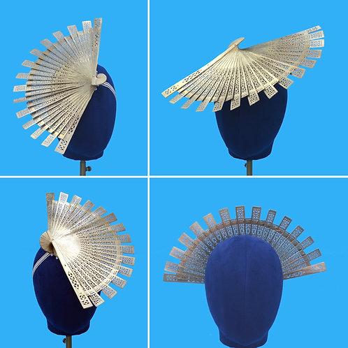 Convertible Gold Halo Fan Fascinator Hat