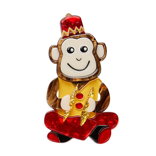 Charley Chimp Brooch by Erstwilder | Circus Monkey
